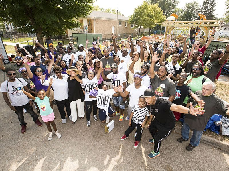 Chicago community unites to provide a safe place for kids to play